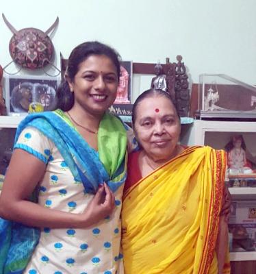 shraddha with guru saudamini rao